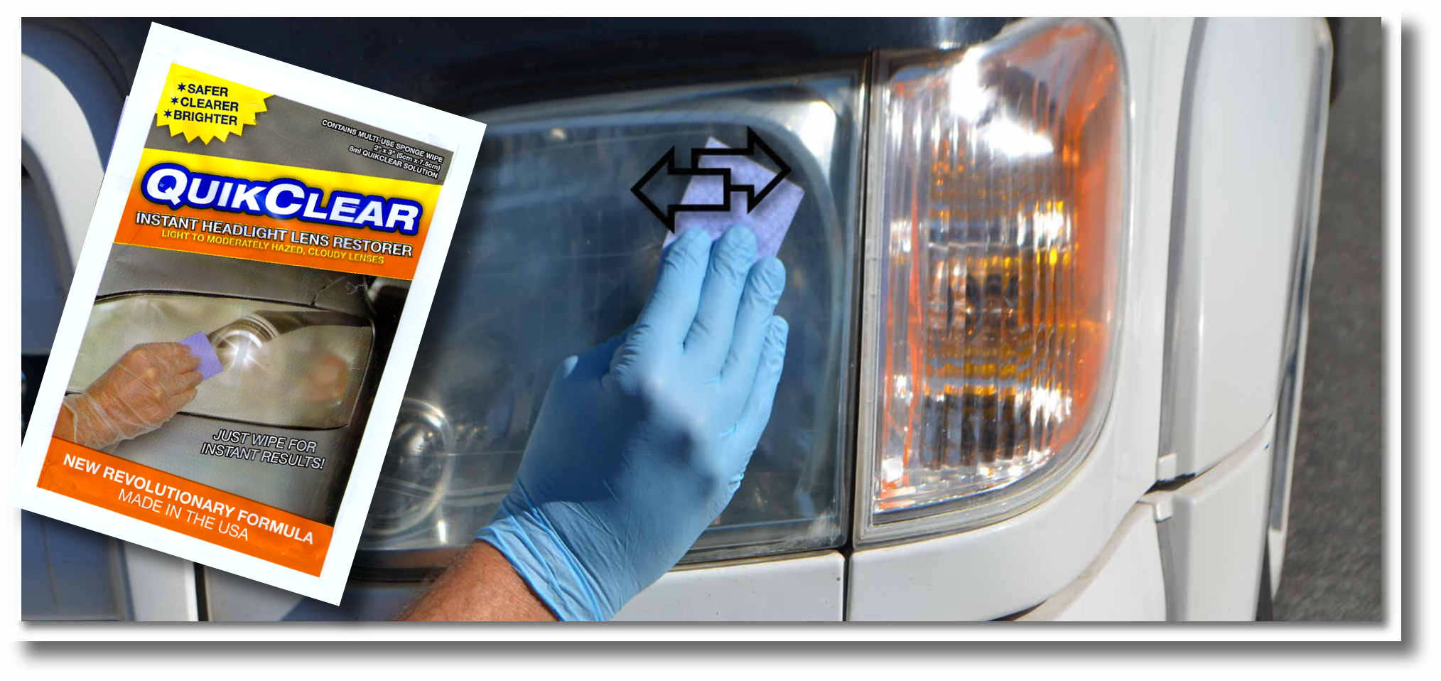 how to clean headlight lenses